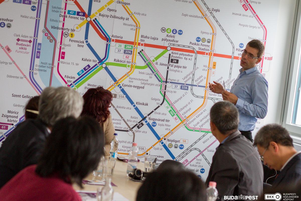 Stakeholder meeting in Budapest Source: BKK Centre for Budapest Transport