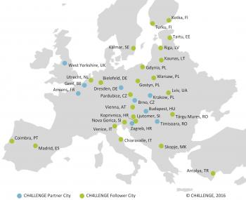 Map of CH4LLENGE Partner and Follower Cities Source: CH4LLENGE, 2016